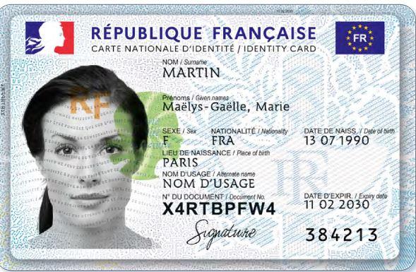 validité carte d identité en france Carte Nationale d'Identité   France in the Southeast region